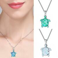 Cute Blue Turtle Pendant Choker Chain Necklace Women Gift Jewelry Fashion K5L9