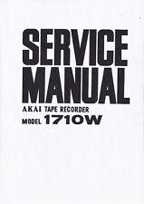 Service Manual-Anleitung für Akai 1710 W