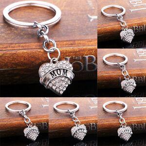 Love Forever Heart Pendant Keychain Keyring Family Member MORTHER'S DAY Gift