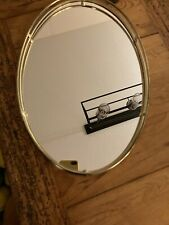 New listing Vintage Oval Mirror Gold Vanity Tray Hollywood Regency Style 15�x10.5�