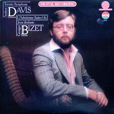 BIZET / L'ARLESIENNE SUITES 1 & 2 - ANDREW DAVIS - CBS MASTERWORKS - DIGITAL LP