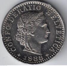 SWISS 10 Rappen COIN 1988