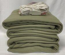 Sunbeam Electric Heated Fleece Blanket Twin Sage Green New