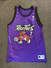 Vintage Raptors Purple Dino Basketball Jersey Champion McGrady Men 48 USA Sport