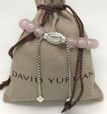 DAVID YURMAN Spiritual Beads Bracelet Pink Quartz in Sterling Silver Adjustable