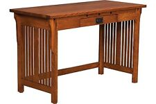 """48"""" Amish Royal Mission Writing Secretary Desk Home Office Solid Wood Furniture"""