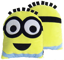 Despicable Me 34 X 26 Cm 100 Percent Polyester Dave Minion Head Shaped Cushion