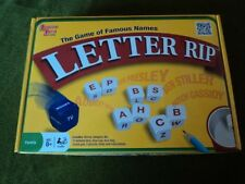 Letter Rip dice word game University Games USED The Game of Famous Names