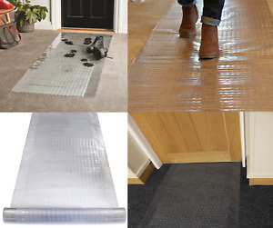 Plastic Carpet Protector 68cm Runner Home & Office Hallway Clear Vinyl Mat Roll