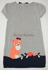 Gymboree Fairy Tale Forest Gray Fox Sweater Dress Girls 5T NEW NWT
