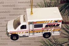 2009 FORD E-350 Ambulance '09 SUAS Santa Ursula CHRISTMAS ORNAMENT White XMAS