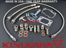 Garrett GT25 GT28 GT30 Ball Bearing Turbo Install Kit T25 / 5 Bolt (Oil & Water)
