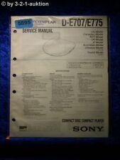 Sony Service Manual D E707 /E775 CD Player (#5895)
