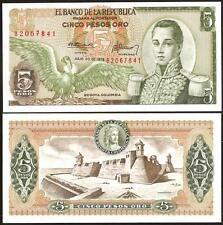 COLOMBIA 5 Pesos Oro 20.07. 1975 UNC P 406 e