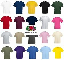 Fruit of The Loom Kids Boys Girls Childrens School Plain T Shirt Tee Shirts
