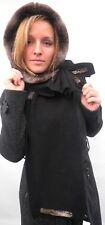 Damen Mütze Schalmütze Capuchon Schwarz Braun Kapuzenschal Damenmütze Winter