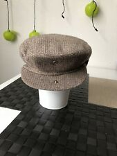 Vtg Newsboys Hat Cap Light Brown Ambassador Mens Hat Hong Kong 60% Wool #Sunday