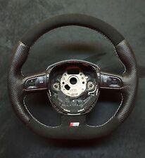 Steering Wheel AUDI  A4./S4  B7 B8  FLAT BOTTOM ! SPORT MODIFIED ALCANTARA