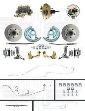 1966 Chevy II Nova Complete Front Power Disc Brake Conversion & Line Kit