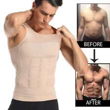 Men's Slimming Body Shaper Vest Abs Abdomen Compression Shirt Fitness Tank Tops