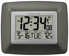 La Crosse Technology WS-8008U Atomic Wall Clock with Indoor Temperature
