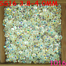 6000pcs SS16 Clear AB Non Hotfix Crystal Acryl Rhinestone Beads Flatback