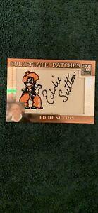 Eddie Sutton Signed 2007 Donruss Elite Collegiate Patches