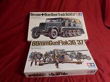 1/35 Tamiya DAK Motorized German Semi Track 8 Ton Half Track w/ 88mm Gun Flak