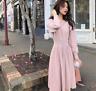 Women's Sweater Dress Korean Knitted High Waist Pleated Dresses Cocktail Evening