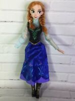 "Disney Store Frozen Anna 16"" Articulated Singing Doll & Clothes Flawed For OOAK"