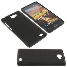 Tasche für Archos Smartphone Handytasche Schutzhülle Silikon Silicon Schwarz