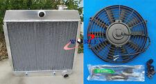 Aluminum Radiator & Fan for CHEVY BEL AIR V8 W/COOLER 55-57 1955 1956 1957