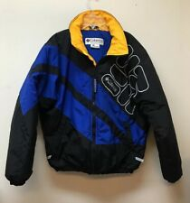 Columbia Sport Vintage Big Logo Puffer Bomber Jacket Men's M Coat Color Block