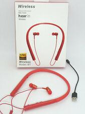 Smartphone * iPhone Bluetooth Stereo Kopfhörer / Earbuds mit Nackenbügel rot