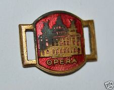 Wow Vintage Antique Early 1900s Opera Brass Metal Enamel Bracelet Charm Rare