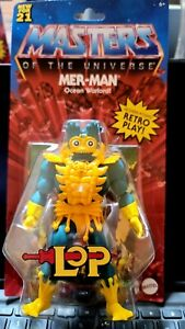 Masters of the Universe Origins Lord of Power Mer-Man Action Figure IN HAND