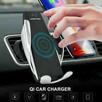 Wireless Qi Car Charger 10W Mount Automatic Clamping Phone Holder Universal