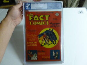 REAL FACT COMICS  #5  Graded    7.5  batman