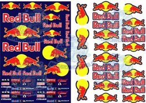 Red Bull Racing | Waterslide Decals for 1/64 1/43 1/32 1/24 & 1/18 scale Models