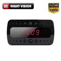 HD 1080P SPY Hidden Camera Clock Remote RF Night Vision Motion Detection Mini DV
