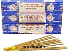 3 x 15 Grams Satya Sai Original Nag Champa Incense Sticks LOWEST PRICE