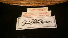 "VTG 1970's ""Neil Bieff"" Hot Pink & Black Geo Diamond Sequins & Beaded Jacket M"
