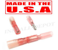 50 HEAT SHRINK BULLET WIRE CONNECTORS PUSH ON 22-18 AWG * MADE IN USA *