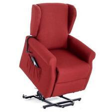 Poltrona vittoria rosso in tessuto relax recliner con 2 motori elettrico arredo