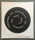 very rare signed MARCEL DUCHAMP 1968 S.M.S. #2 CONTREPETRIE RECORD sms copley A