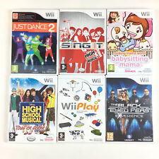 Lot 6 Jeu Wii Fille : Just Dance 2, Black Eyed Peas, Babysitting Mama...