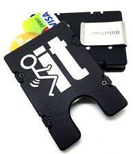 Billet Vault Aluminum Wallet, RFID protection, Black Anodized, F_ _ CK  IT,