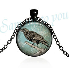 Snow Storm New Uk Fast Free p&p Raven Pendant Necklace or Key Ring Pendant Crow