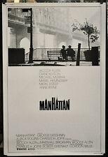 MANHATTAN 1979 ORIG 40X60 MOVIE POSTER WOODY ALLEN DIANE KEATON MARIEL HEMINGWAY