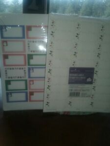 Pack Of 120  HALLMARK  NEW CHRISTMAS address labels + 108 AMPAD address labels